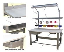1,600 LB. CAPACITY ROOSEVELT SERIES WORKBENCHES - WITH BUTCHER BLOCK TOP